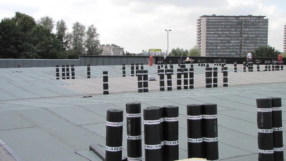 bitumen op plat dak